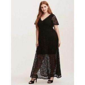 Torrid Lace Maxi Dress - Size 22